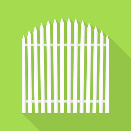 Small house barrier icon, flat style