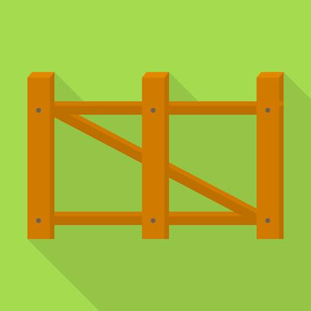 Farm barrier icon, flat style