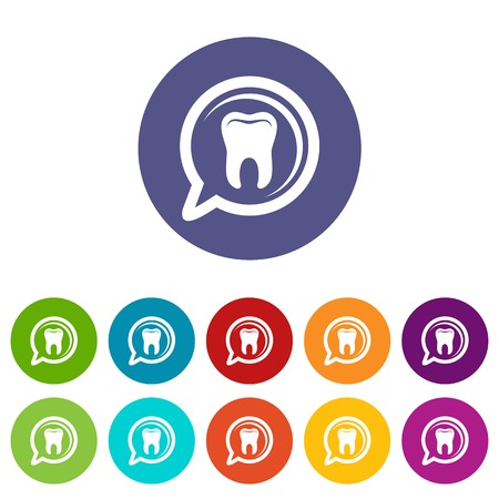 Explore tooth icon, simple style Çizim