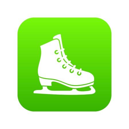 Skates icon digital green Illustration