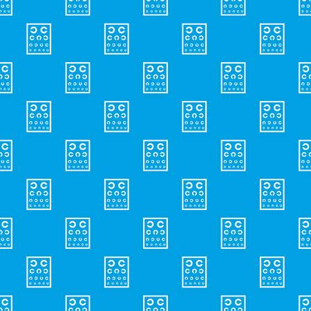 Ophthalmology tablet pattern vector seamless blue