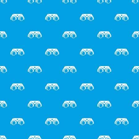 Medical glasses pattern vector seamless blue Illustration