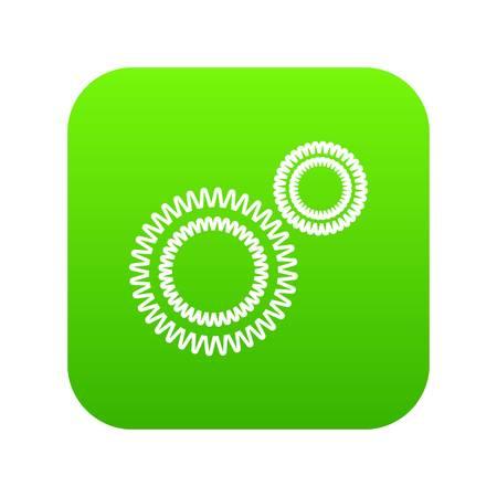 Mildew virus icon green vector
