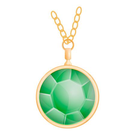 Green peridot mockup, realistic style 일러스트