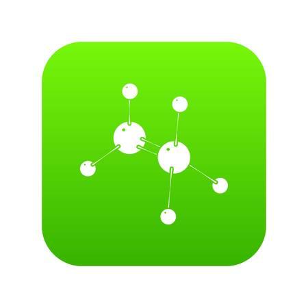 Glycine icon green vector Illustration