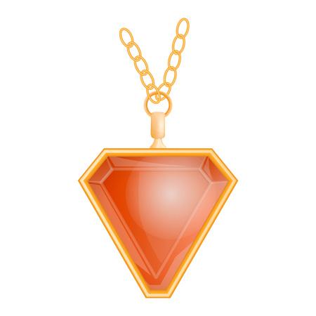Garnet jewelry mockup, realistic style