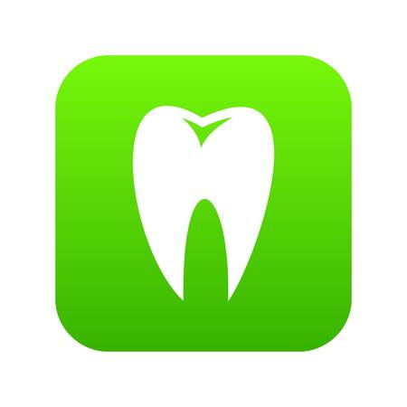 Tooth icon digital green 矢量图像