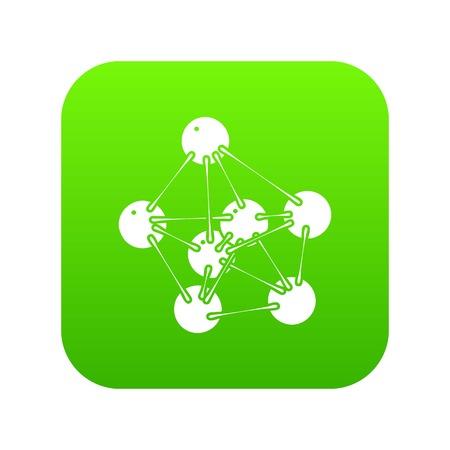 Phenol icon green vector