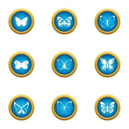 Bat icons set, flat style