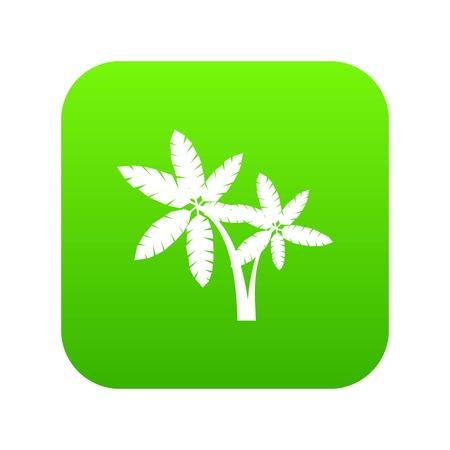 Palma icon digital green Ilustrace