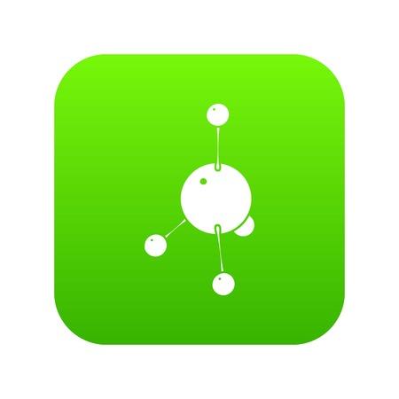 Acetone icon green vector Stock Vector - 101858617