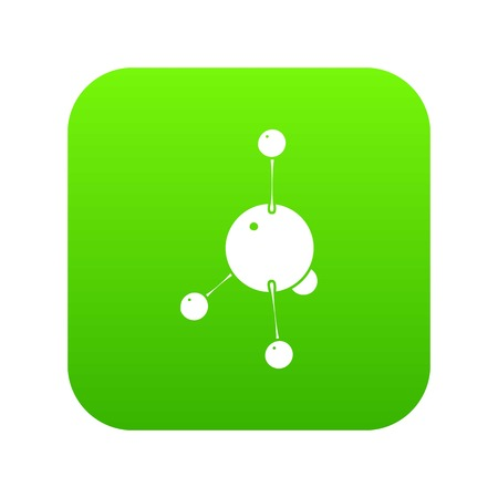Acetone icon green vector