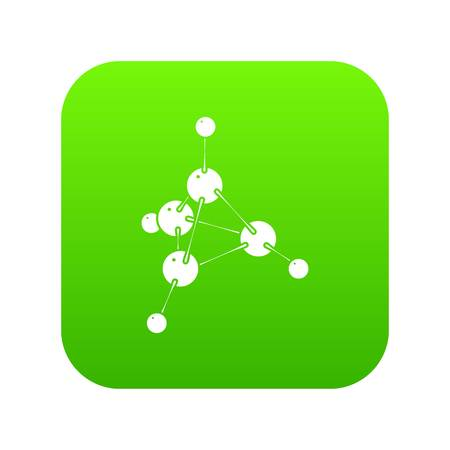 Methanol icon green vector
