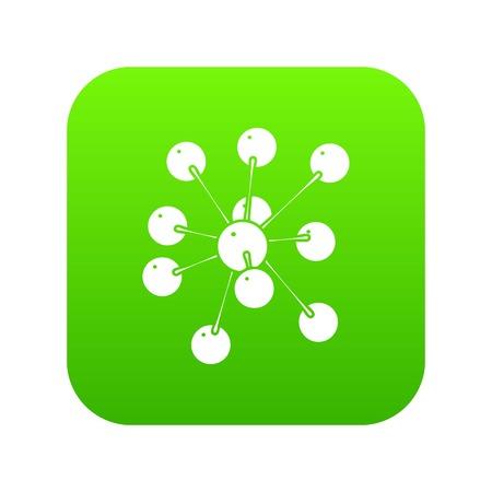 Cresols molecule icon green vector Illustration