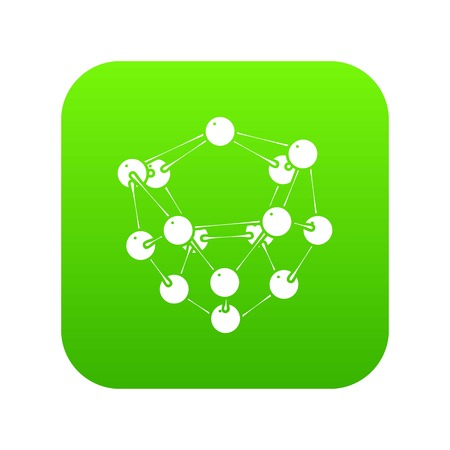 Glucose icon green vector