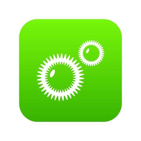 Icône de virus de la moisissure vecteur vert