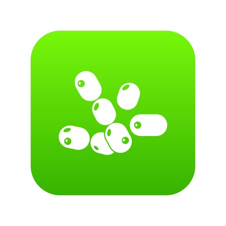 Coccus bacilli icon green vector