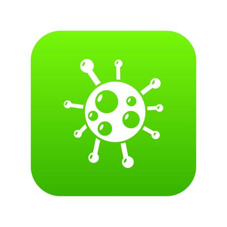Chlamydia virus icon green vector Ilustrace