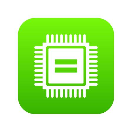 Electronic circuit board icon digital green 向量圖像