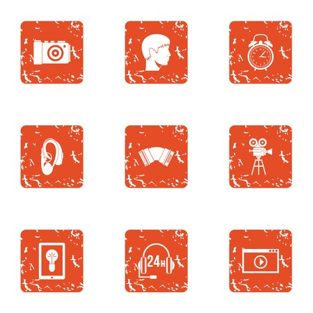 Favourable icons set. Grunge set of 9 favourable vector icons for web isolated on white background