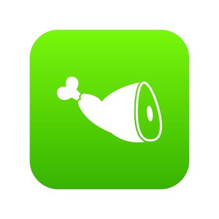 Roast pork knuckle icon digital green for any design isolated on white vector illustration Illustration