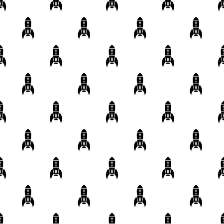 Rocket retro pattern vector seamless Иллюстрация