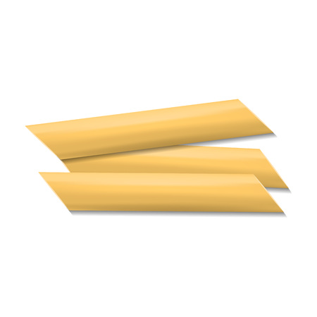 Penne rigate pasta mockup, realistic style