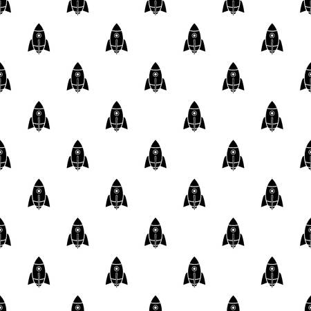 Rocket design pattern vector seamless