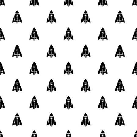 Rocket design pattern vector seamless