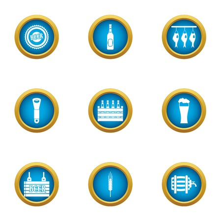 Grand celebration icons set, flat style Illustration