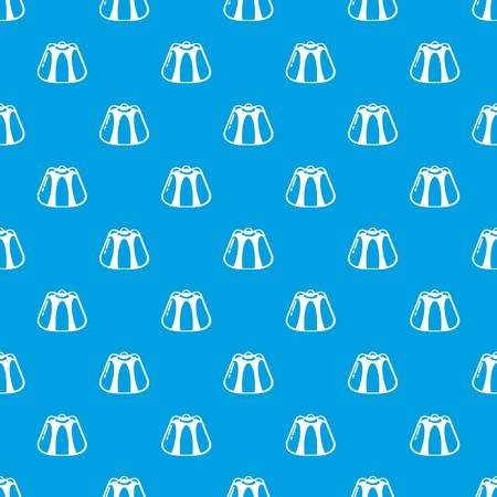 Pudding pattern vector seamless blue