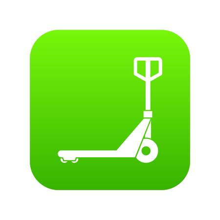 Hand truck icon digital green