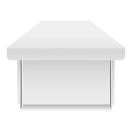 White tent mockup, realistic style