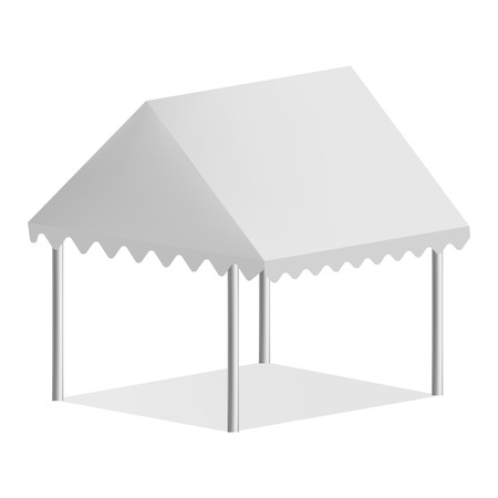 Outdoor commercial tent mockup, realistic style