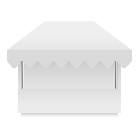 White shop tent mockup, realistic style