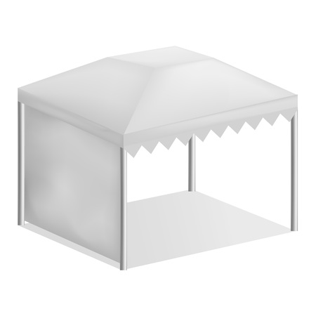 Advertising tent mockup, realistic style