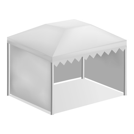 Commercial tent mockup, realistic style