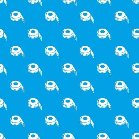 Meetlint patroon vector naadloze blauw