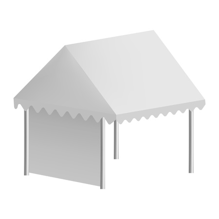 Outdoor tent mockup, realistic style 向量圖像