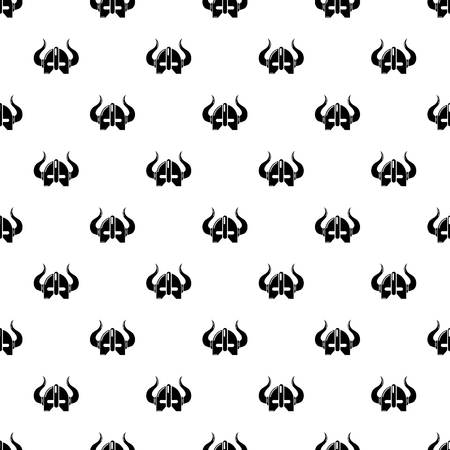 Viking helmet pattern vector seamless Illustration