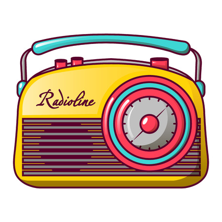 Retro radioline icon, cartoon style