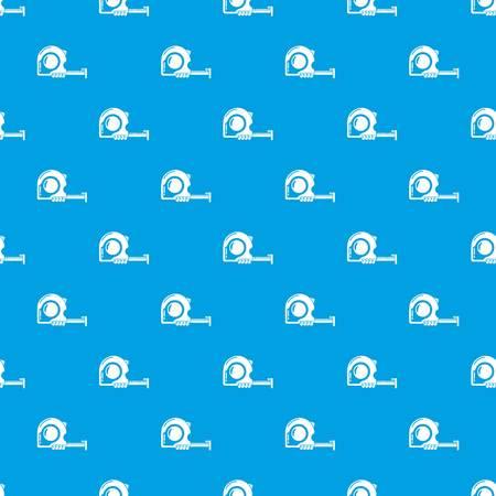 Yardstick pattern vector seamless blue Stock Illustratie