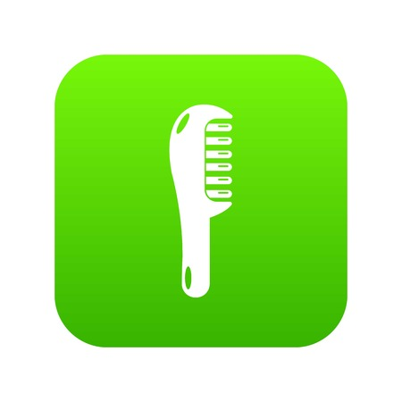 Hairbrush style icon green vector