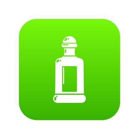 Square bottle icon green vector Vettoriali