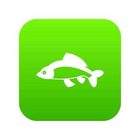 Fish icon digital green