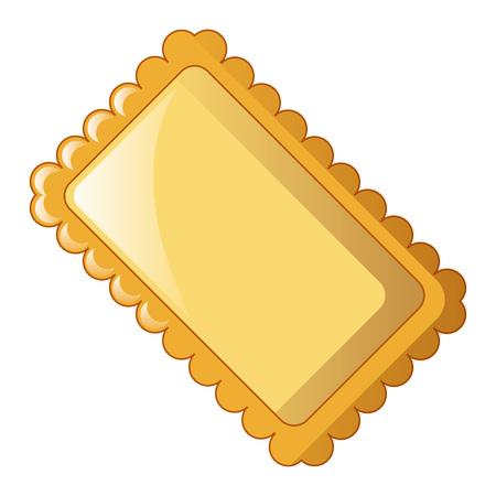 Lasagne icon, cartoon style