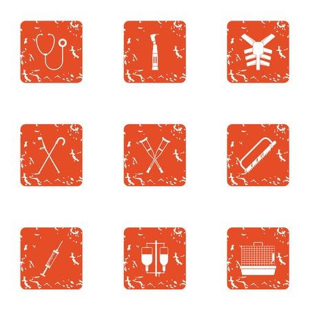 Replacement icons set, grunge style