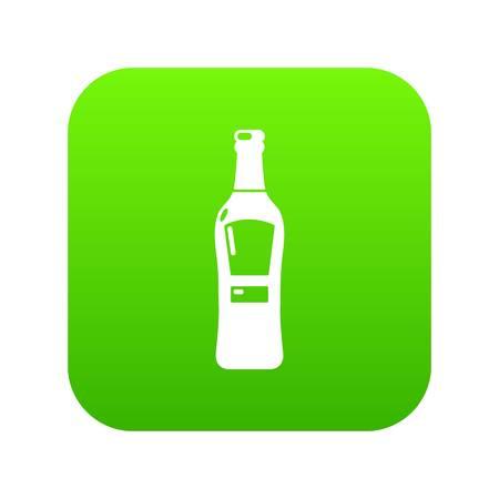 Bourbon icon green vector