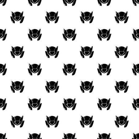 Motorcycle helmet design pattern vector seamless