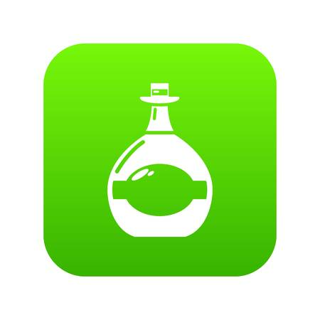 Pot bellied bottle icon green vector Ilustrace